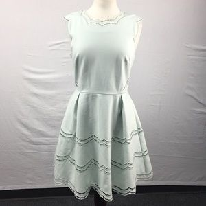 Ted Baker Cammey Embroidered Scallop Mint Dress